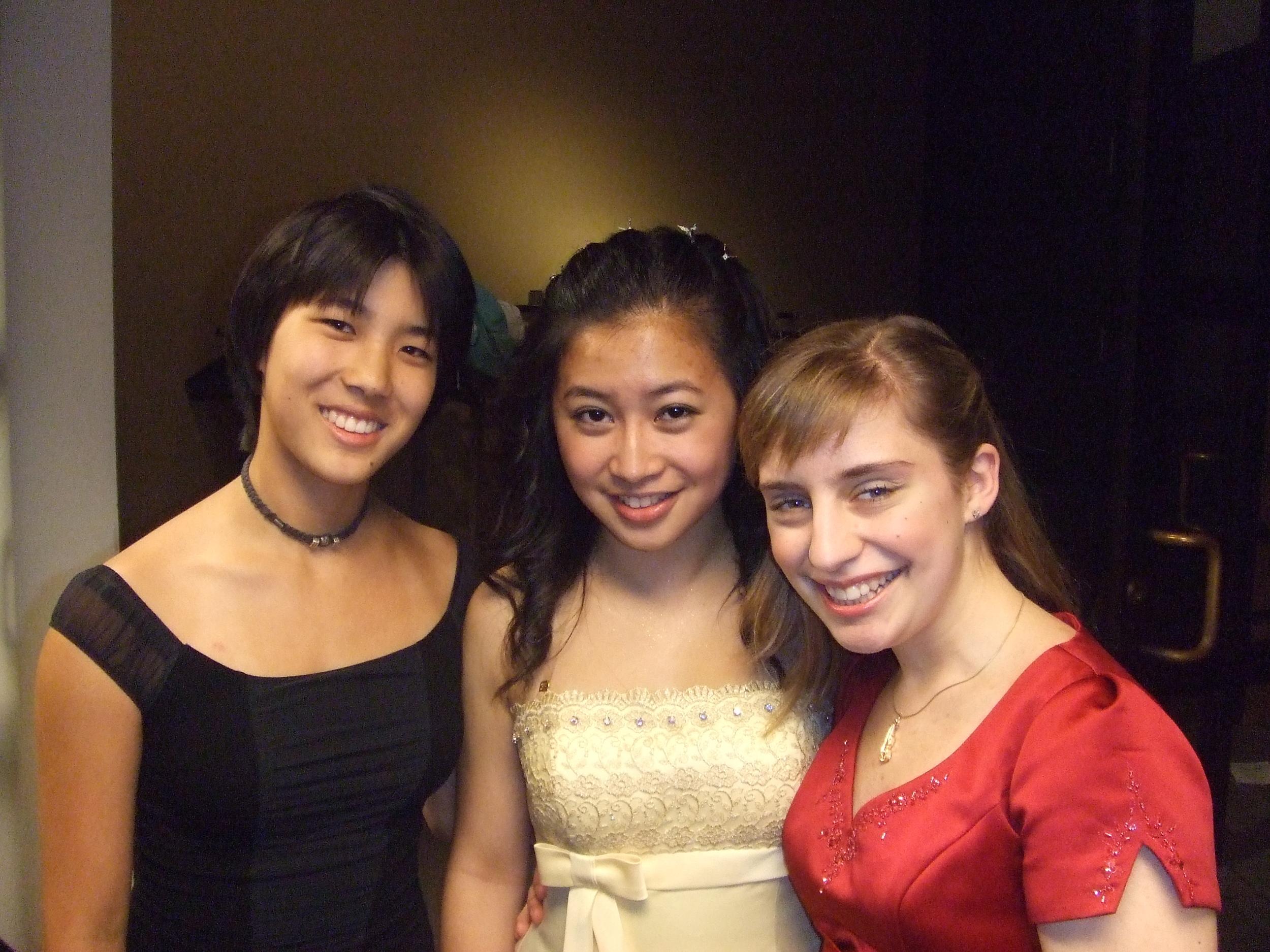 Courtney Kaita, Lily Chiu, and Emma Schmiedecke