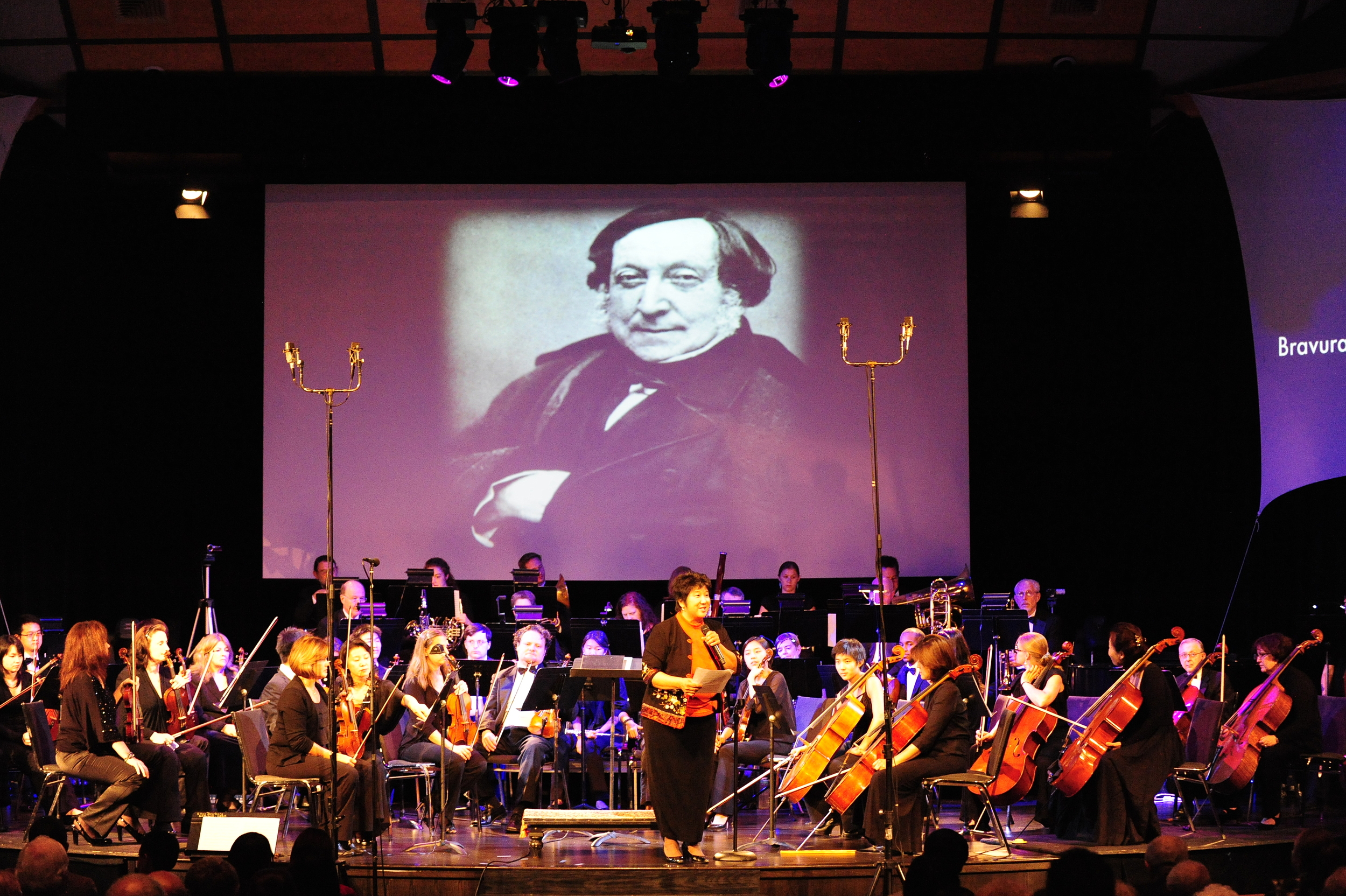 Maestra Lin introduces principal oboist Melissa Bohl