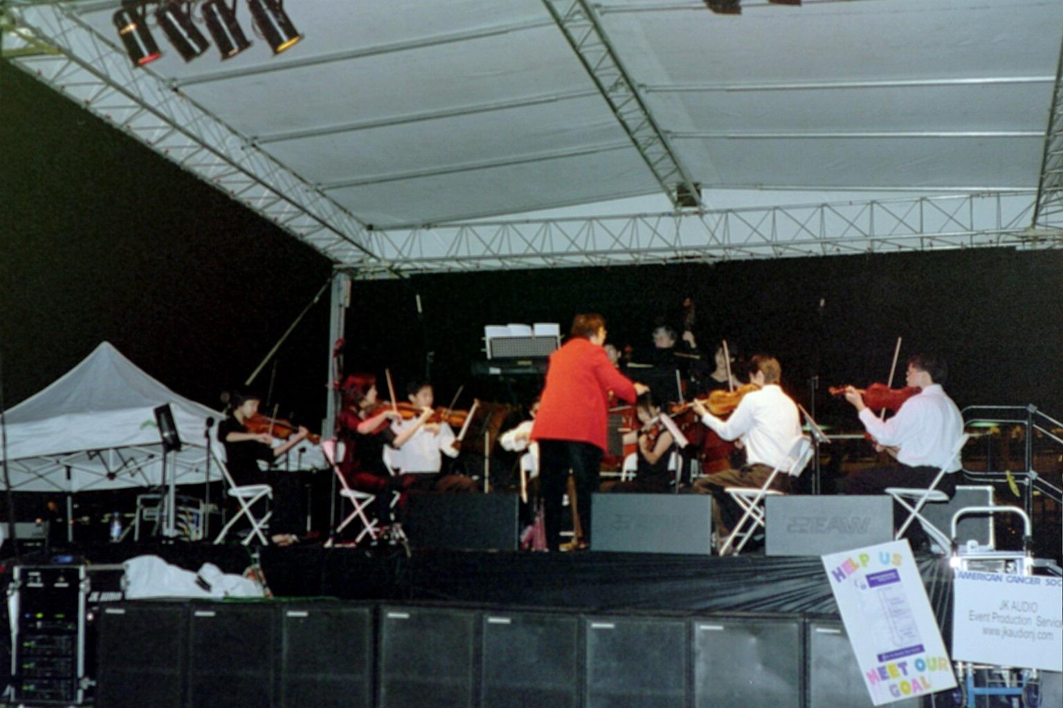 A powerful performance by the Bravura     string ensemble