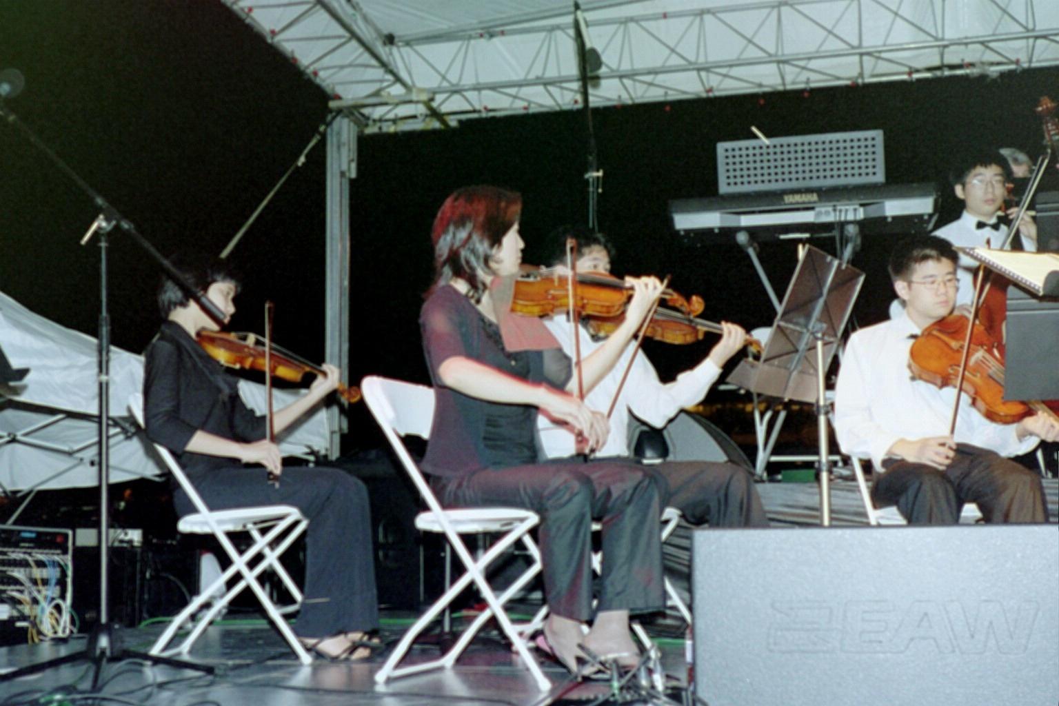 "Bravura violinists perform Josh Groban's ""You Raise Me Up"""