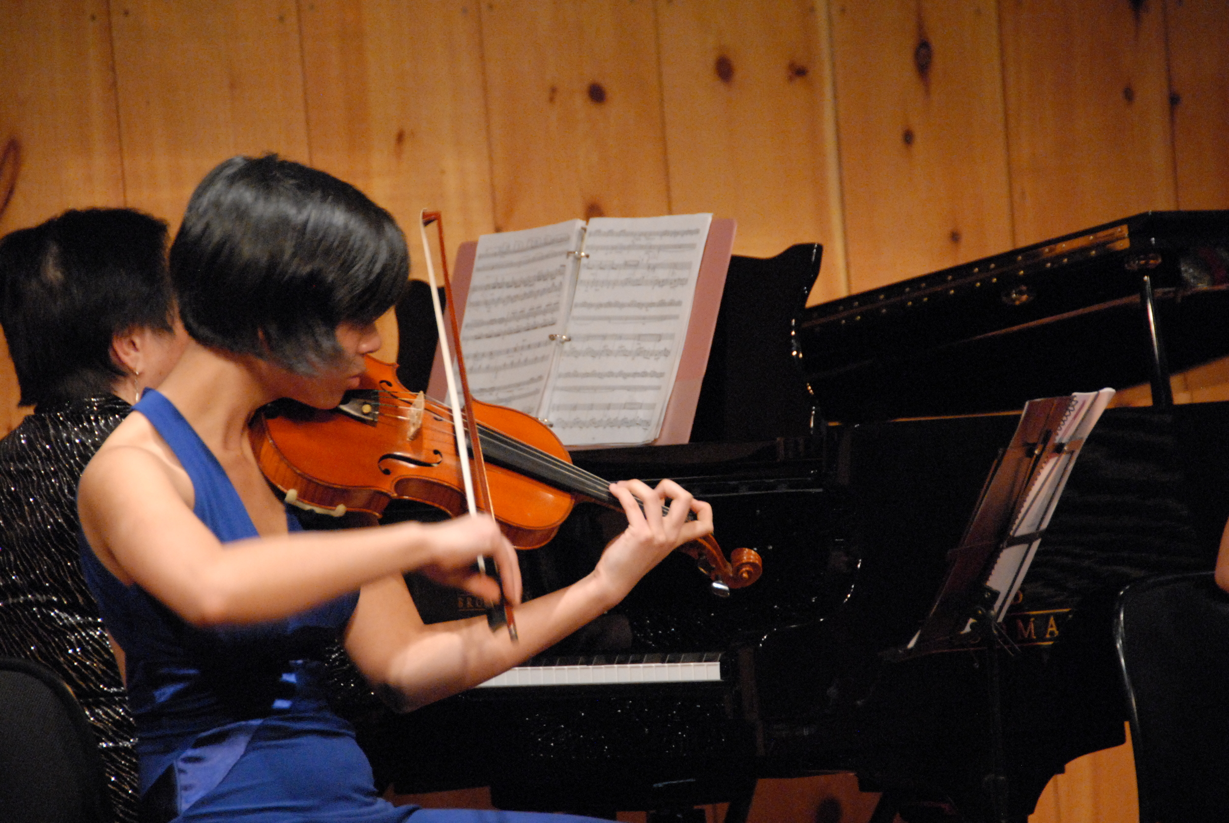 Violinist Constance Kaita figures out a tricky part