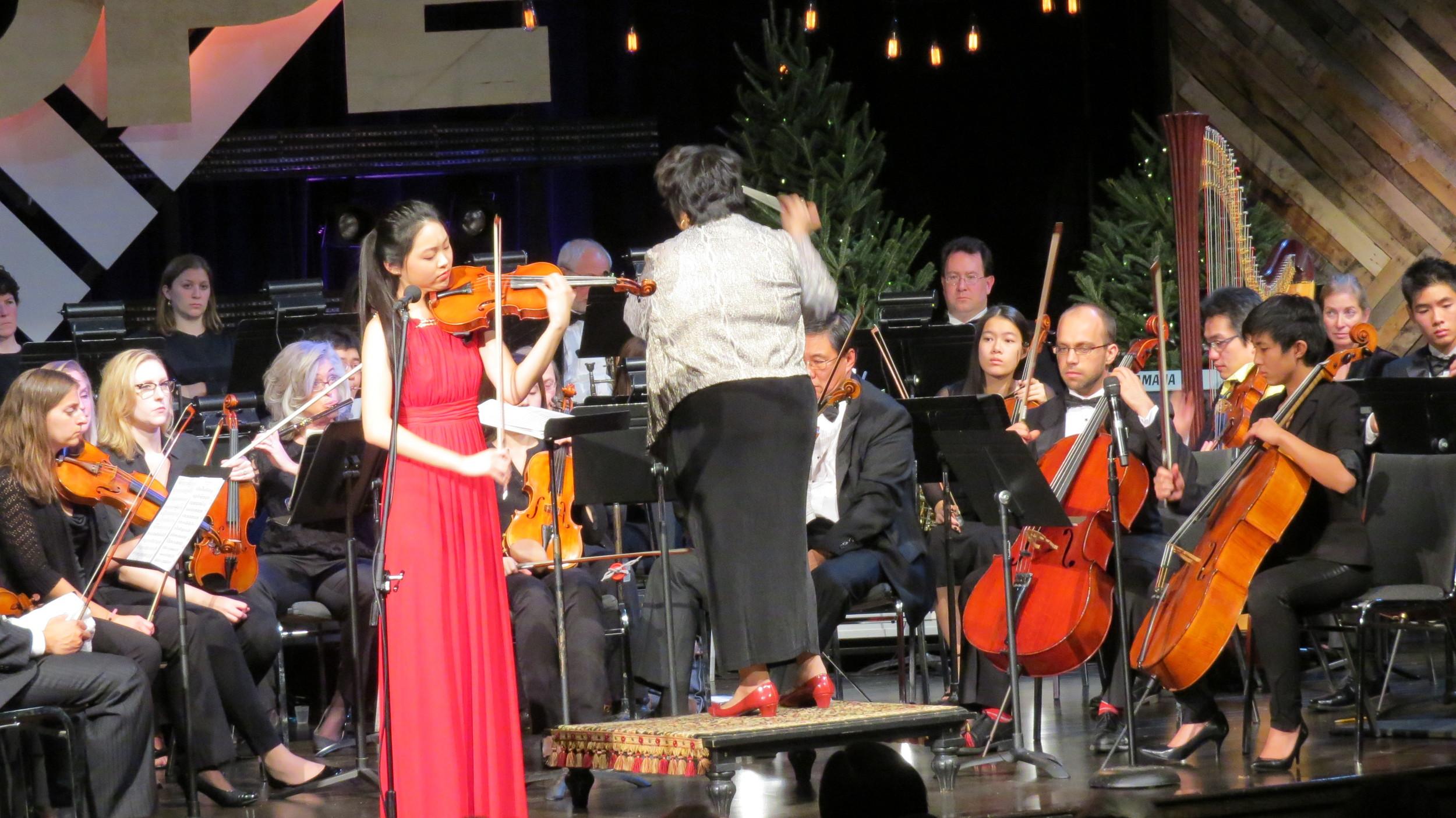 Violinist Katie Liu performing Sarasate's  Carmen Fantasy