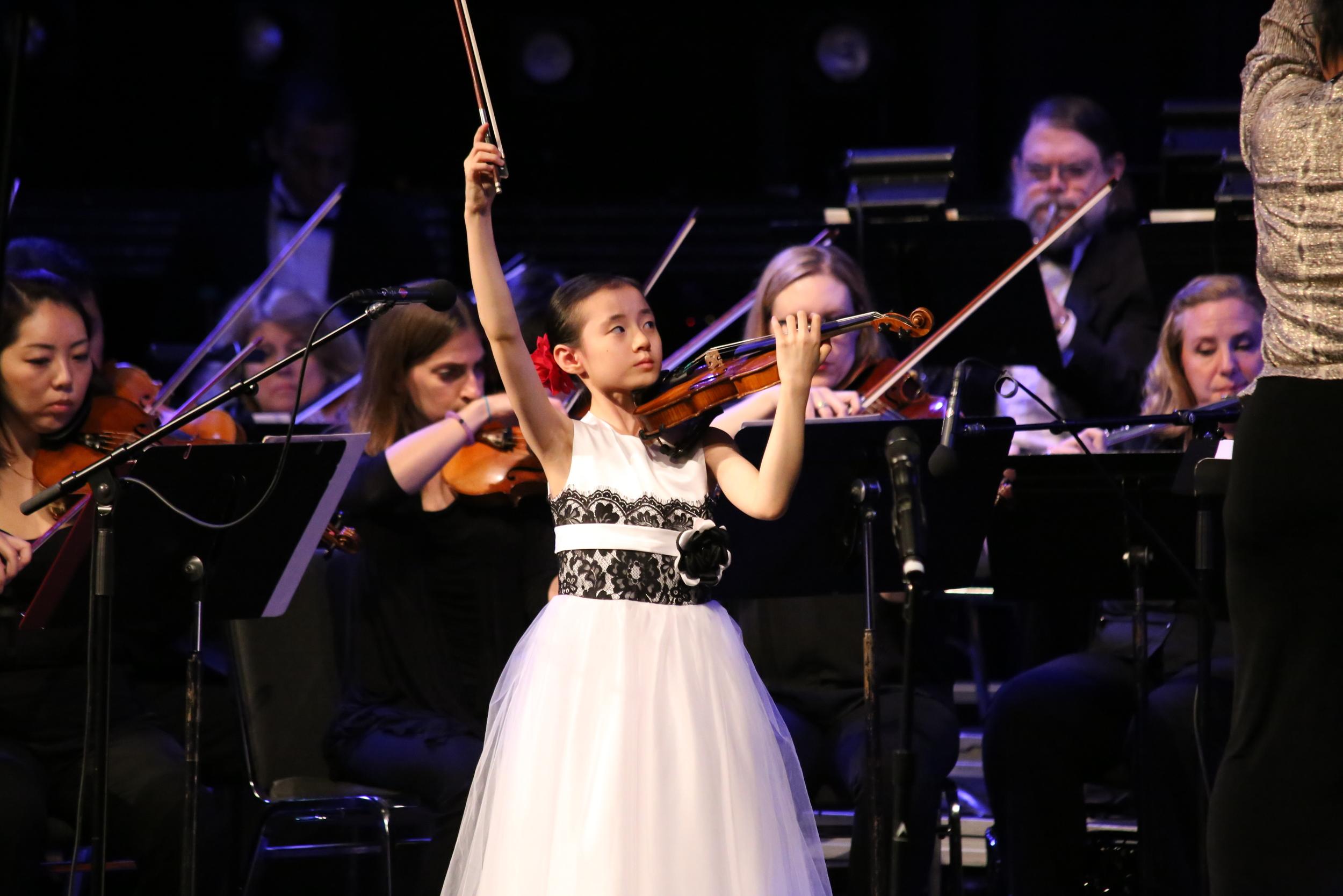 Fiona Khuong-Huu enjoying the last note of Lalo!