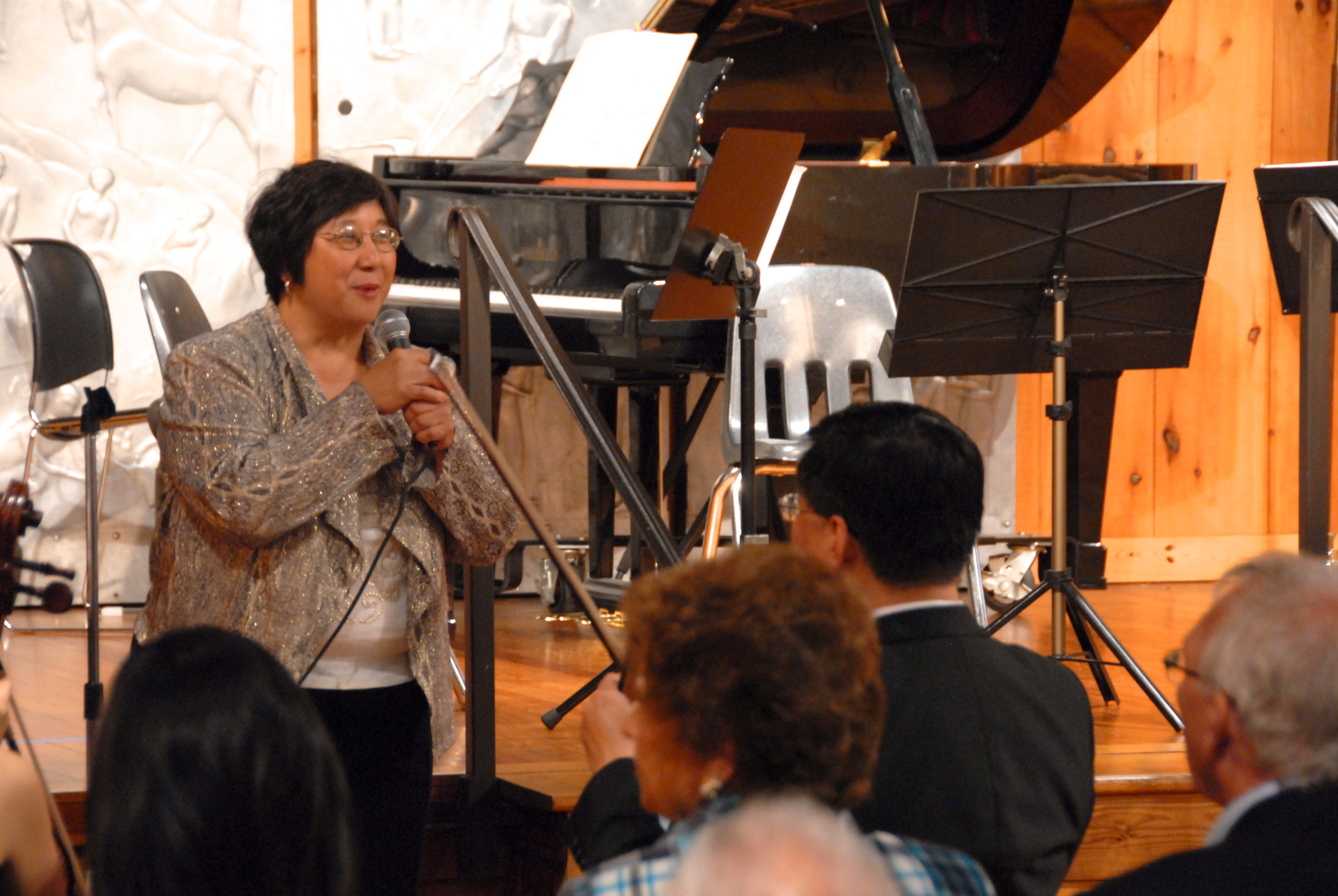 Maestra Lin introduces the Bravura musicians