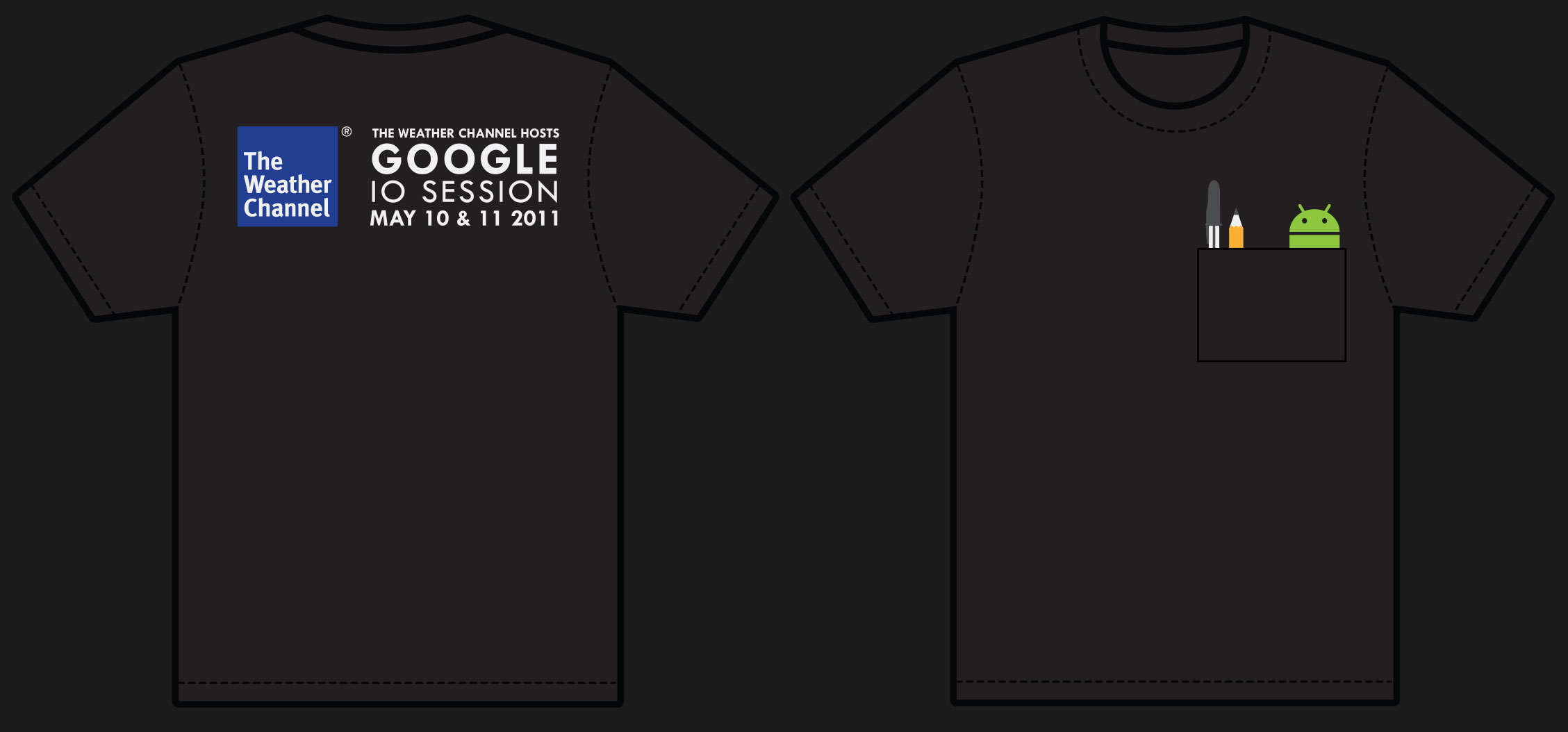 T-Shirt design made for the Google IO Session in 2011