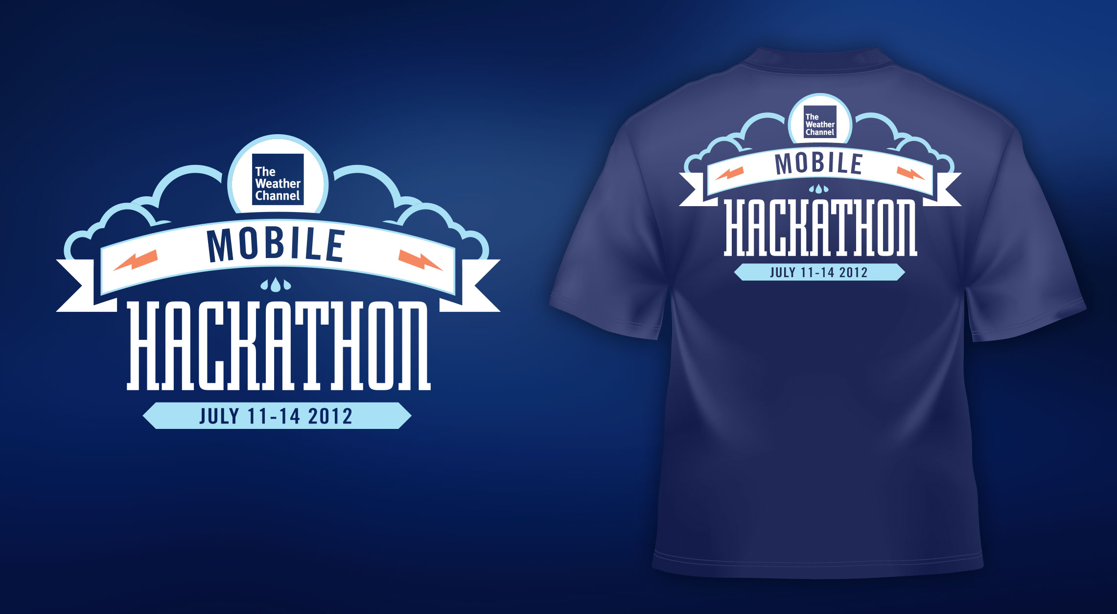 T-Shirt design for the 2012 Hackathon forThe Weather Channel
