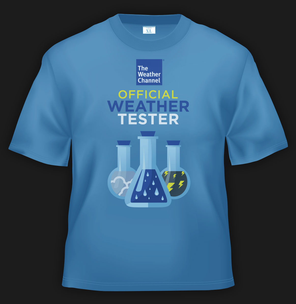 T-shirt created for The Weather Channel product testers