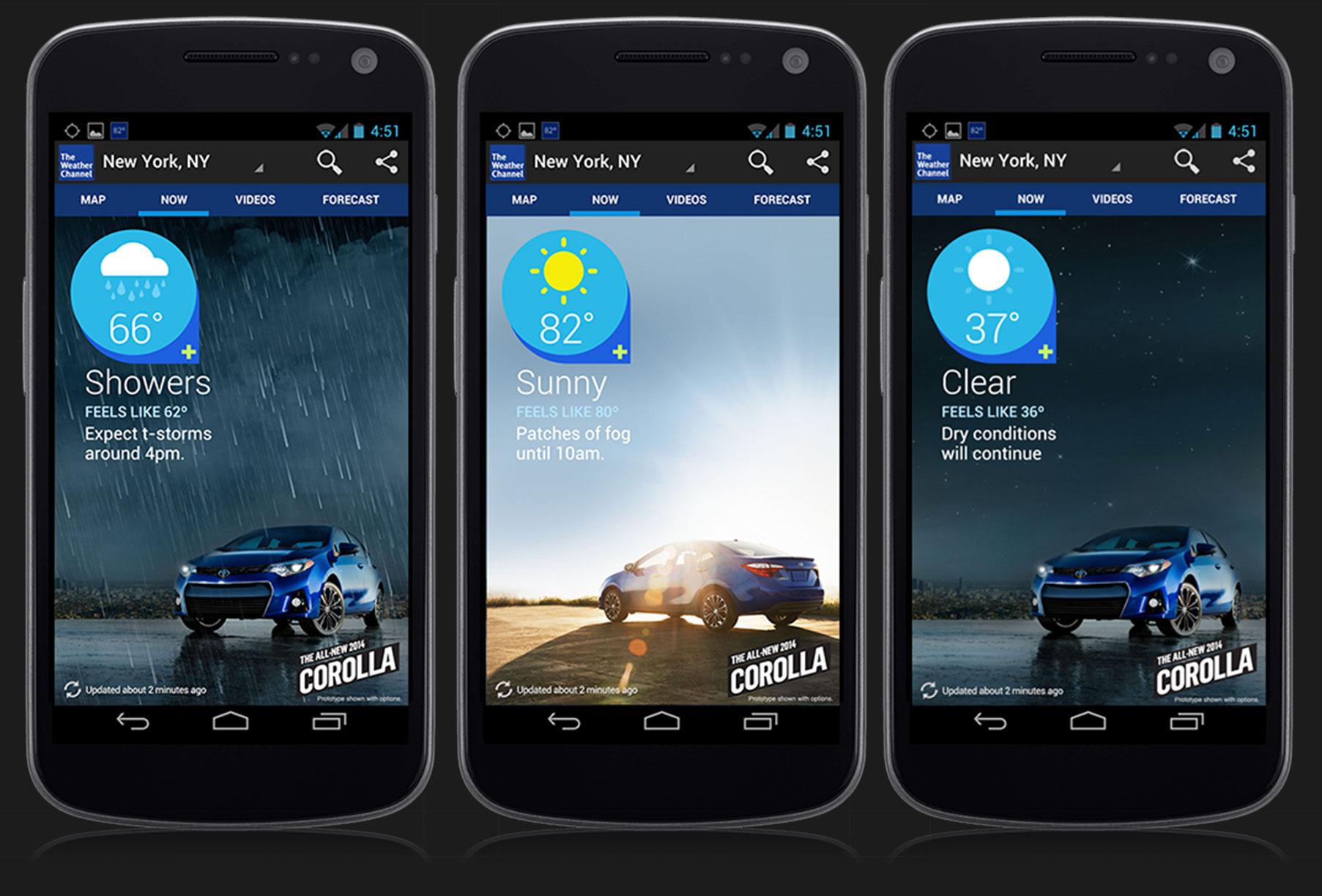Toyota Corolla Android App Brand Integration