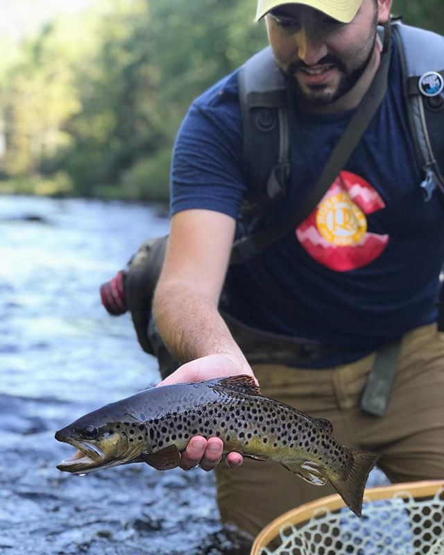 A few photos from a late summer's guide's day on the river. We found some browns, some rainbows, and a big old hungry sucker. Temps are starting to drop now as we head into fall, but there are still excellent days to be had on our local rivers and creeks. . . . . . #flyfishing #fishing #troutfishing #brookie #brooktrout #catchandrelease #backthebrookie #nativebrookie #flyfishingnation #char #newjersey #catchmeoutside #getoutdoors #cwcfishingco #getoutthere #flyfishingguide #flyfishingjunkie #flyfishingaddict #onthefly #explore #adventure