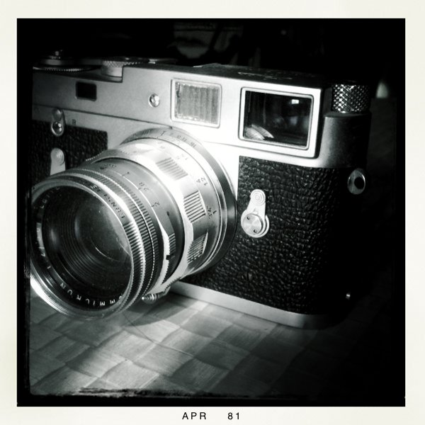 My old Leica M2 with 50mm Summicron.