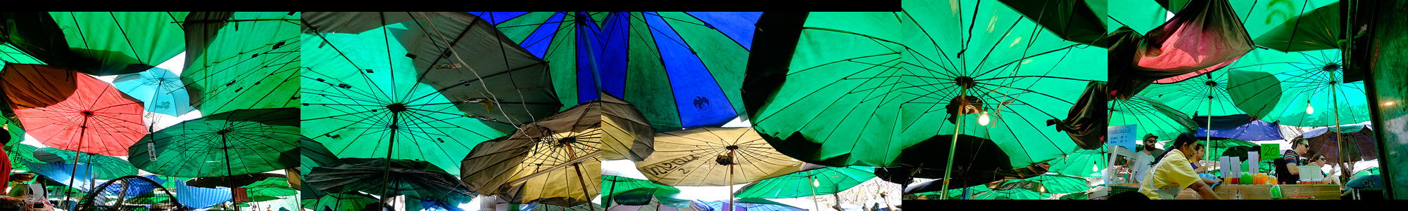 Sea Of Umbrellas, Jan 2, 2015.