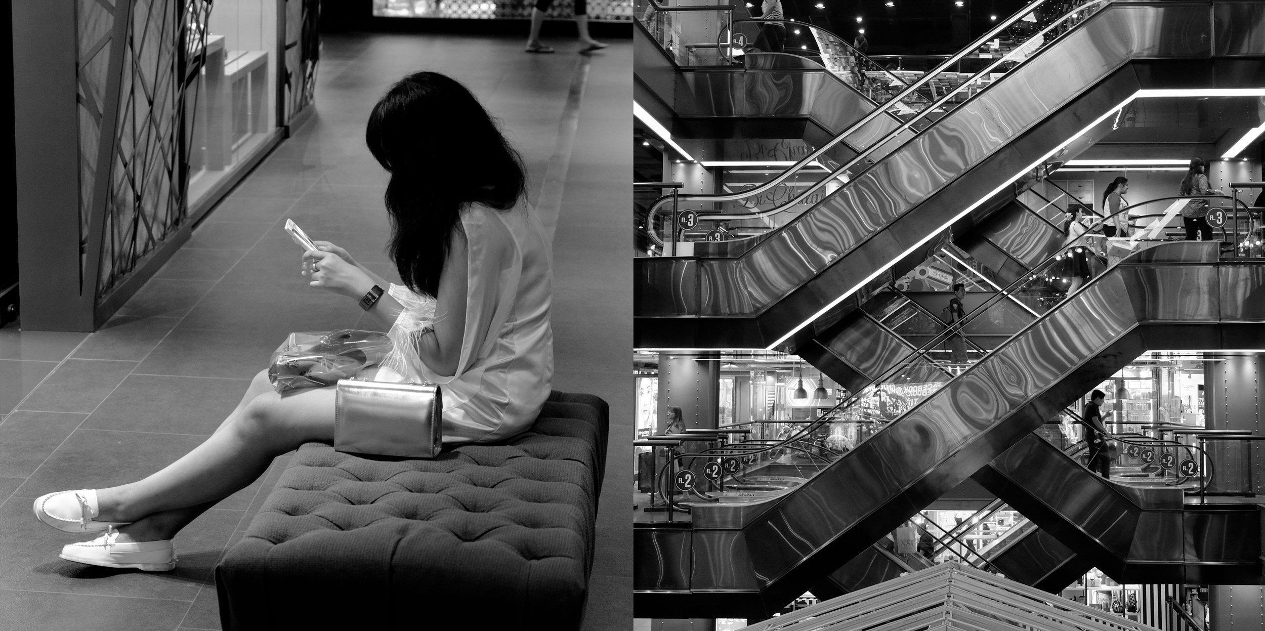 Immaculate Girl and Escalator, 2017