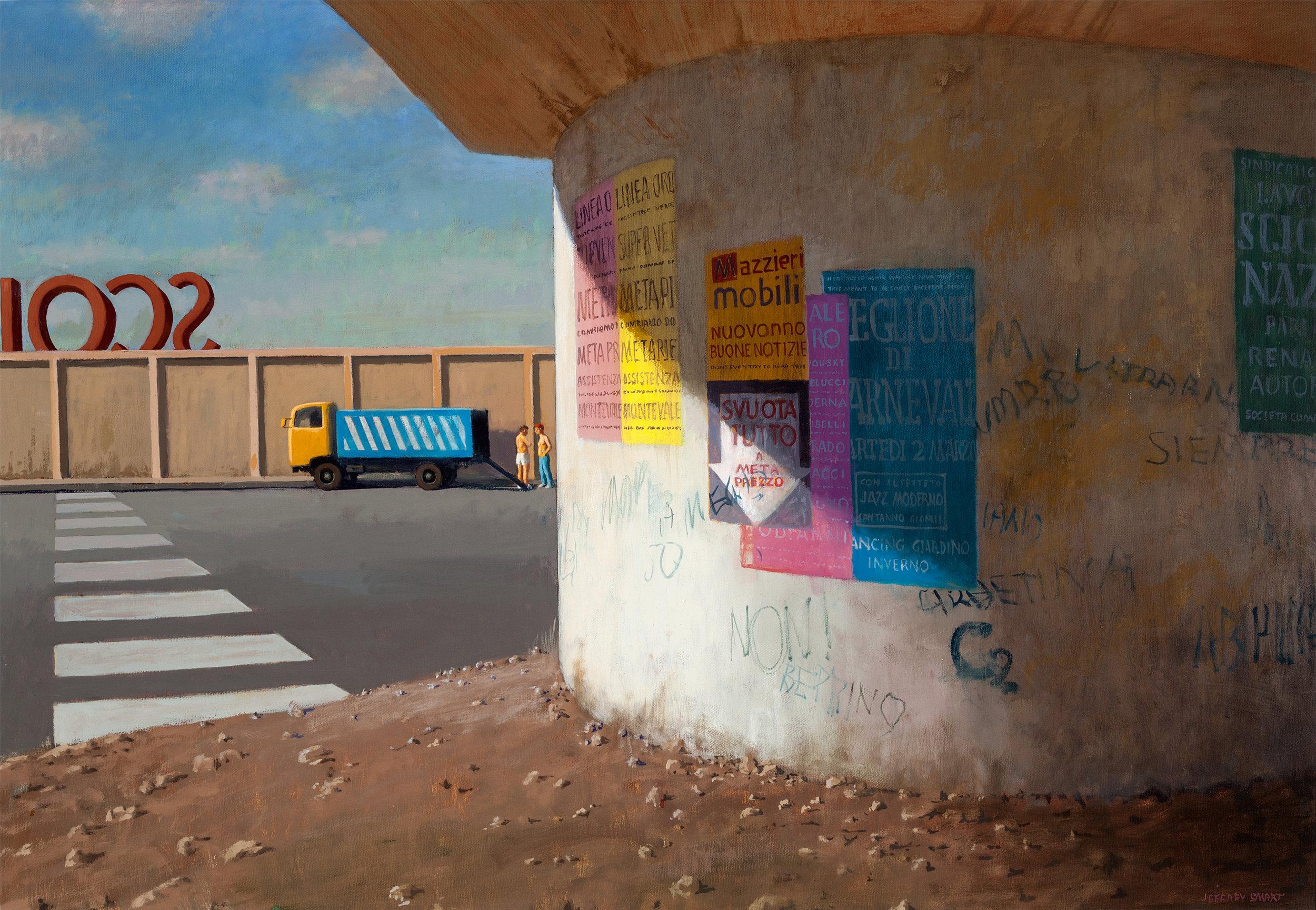 Jeffrey Smart Painting