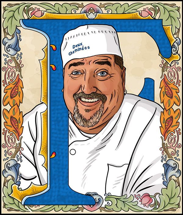 Fritz Blank  -Owner and executive chef of the legendary Deux Cheminées restaurant in Philadelphia.