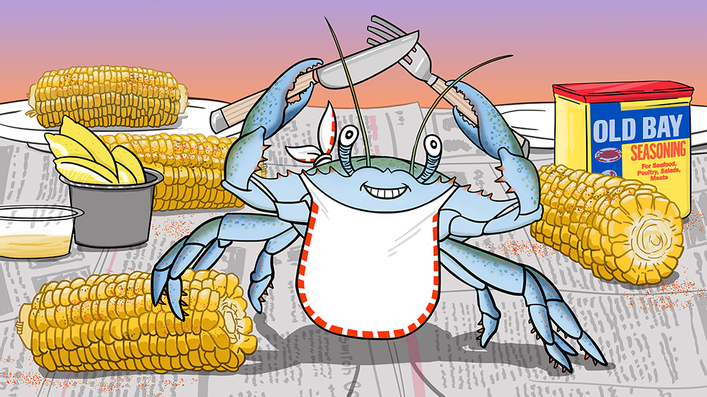 The first blue crab of the season