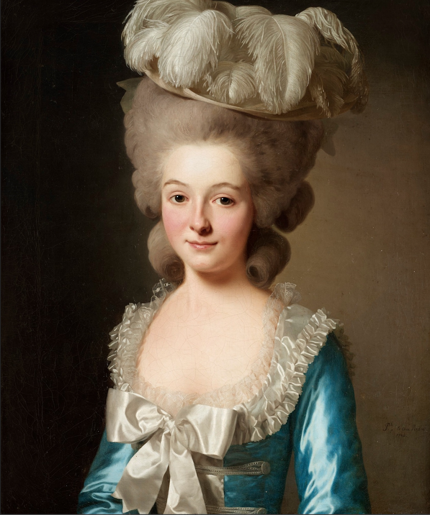 Portrait of a French Lady called Madame de Bionville by Alexander Roslin b. 1718 – d. 1793