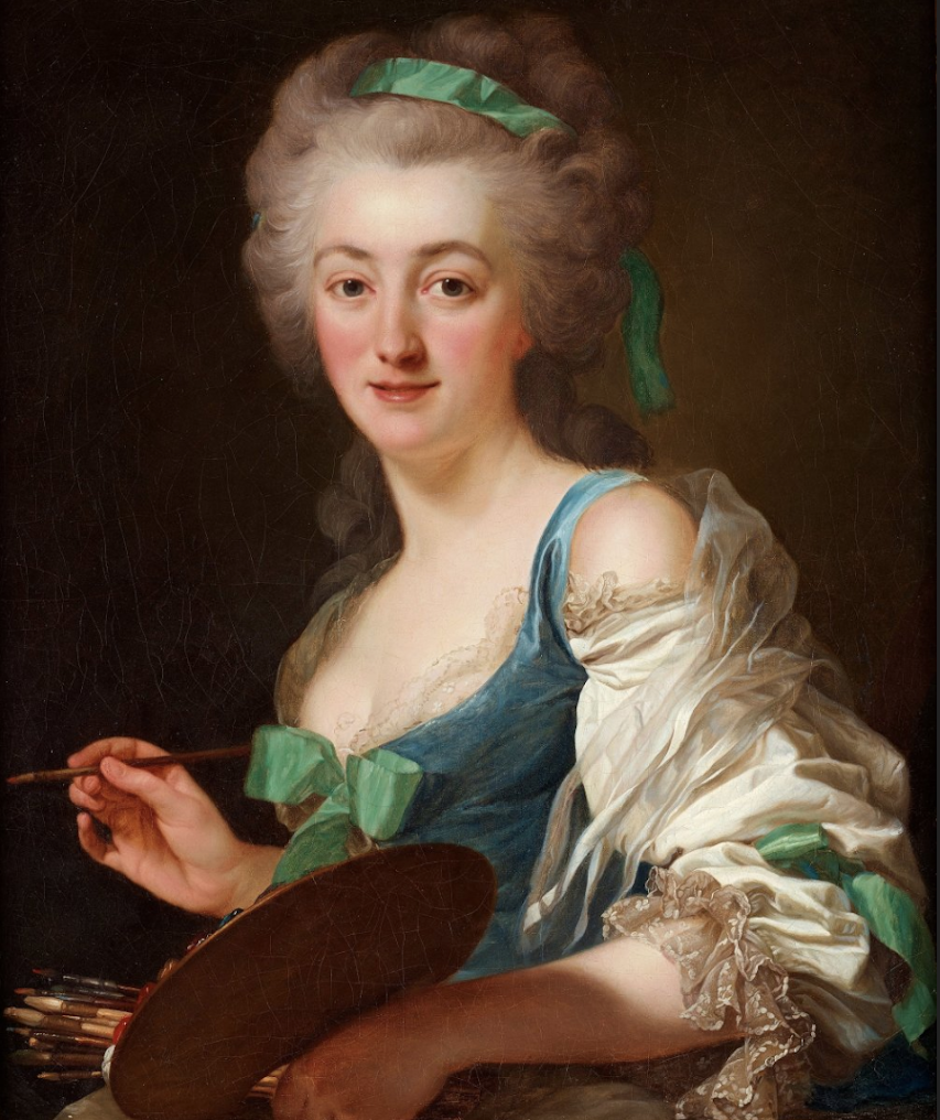 The Artist Ann Vallayer-Coster by Alexander Roslin b. 1718 – d. 1793