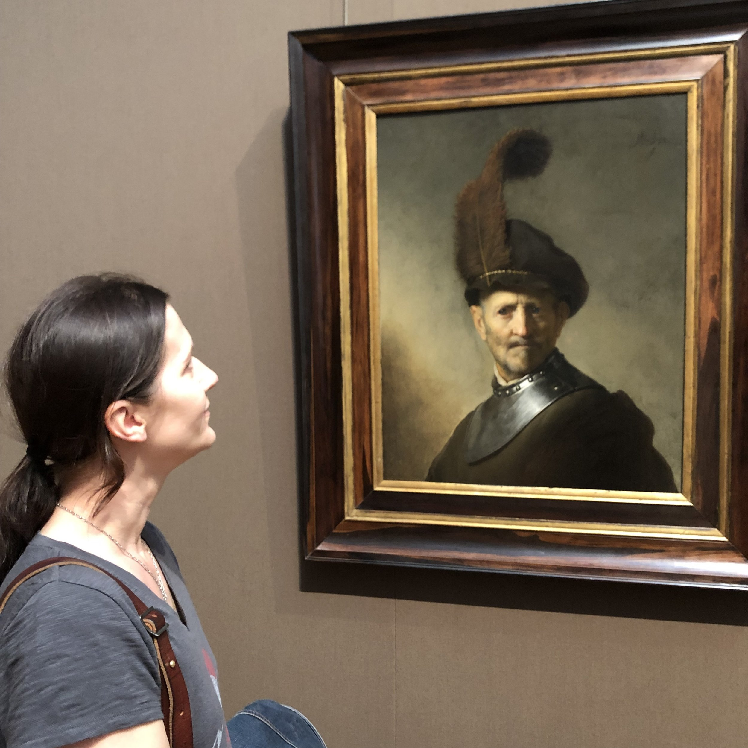 A familiar face at the Getty Museum.