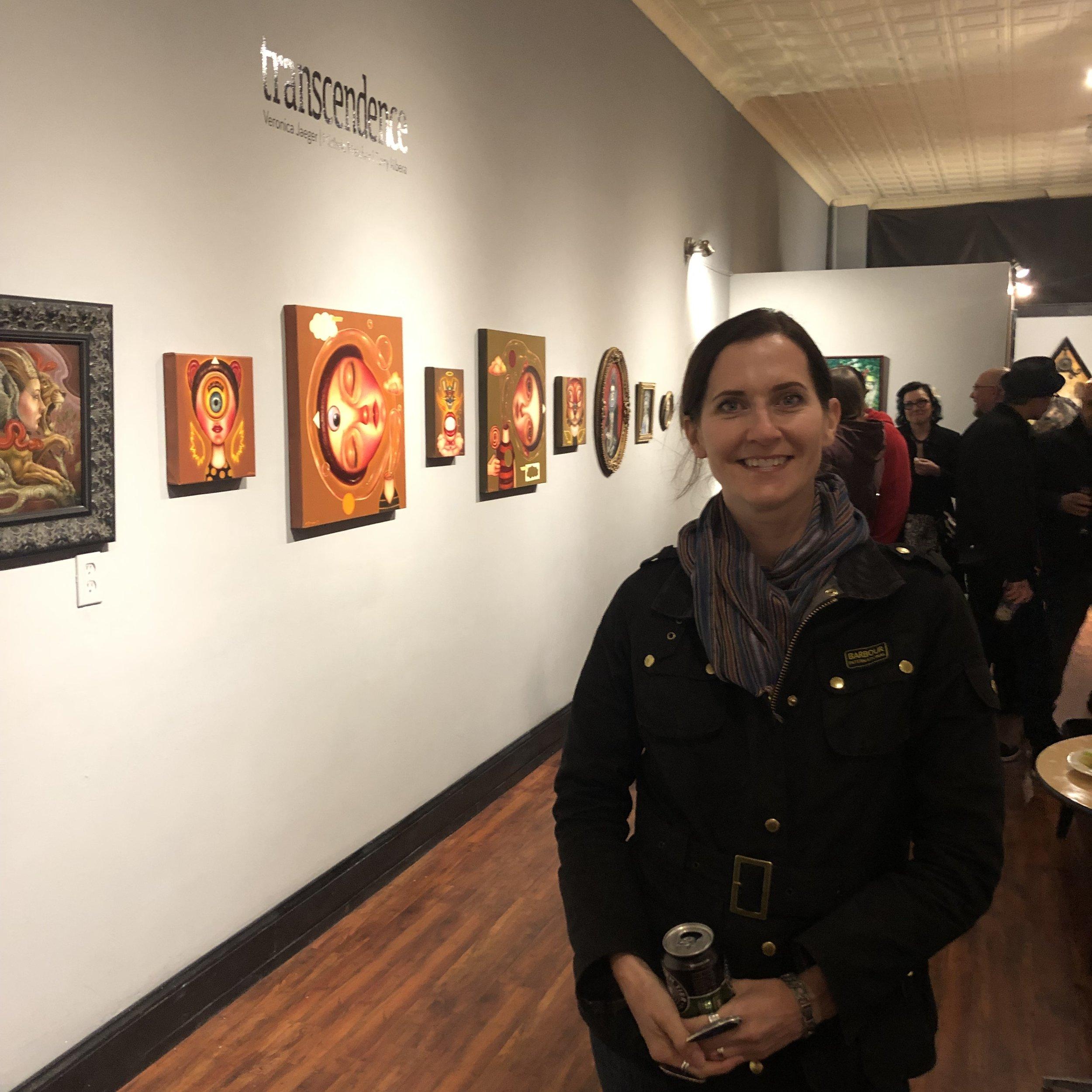 Opening night at  Revolution Gallery