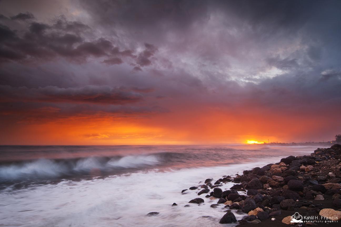 Matthew's End of Day Light Show - Bull Bay