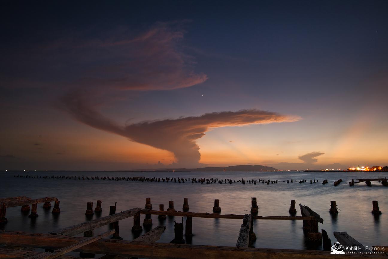 Mushroom Cloud - Kingston Harbour at Dusk