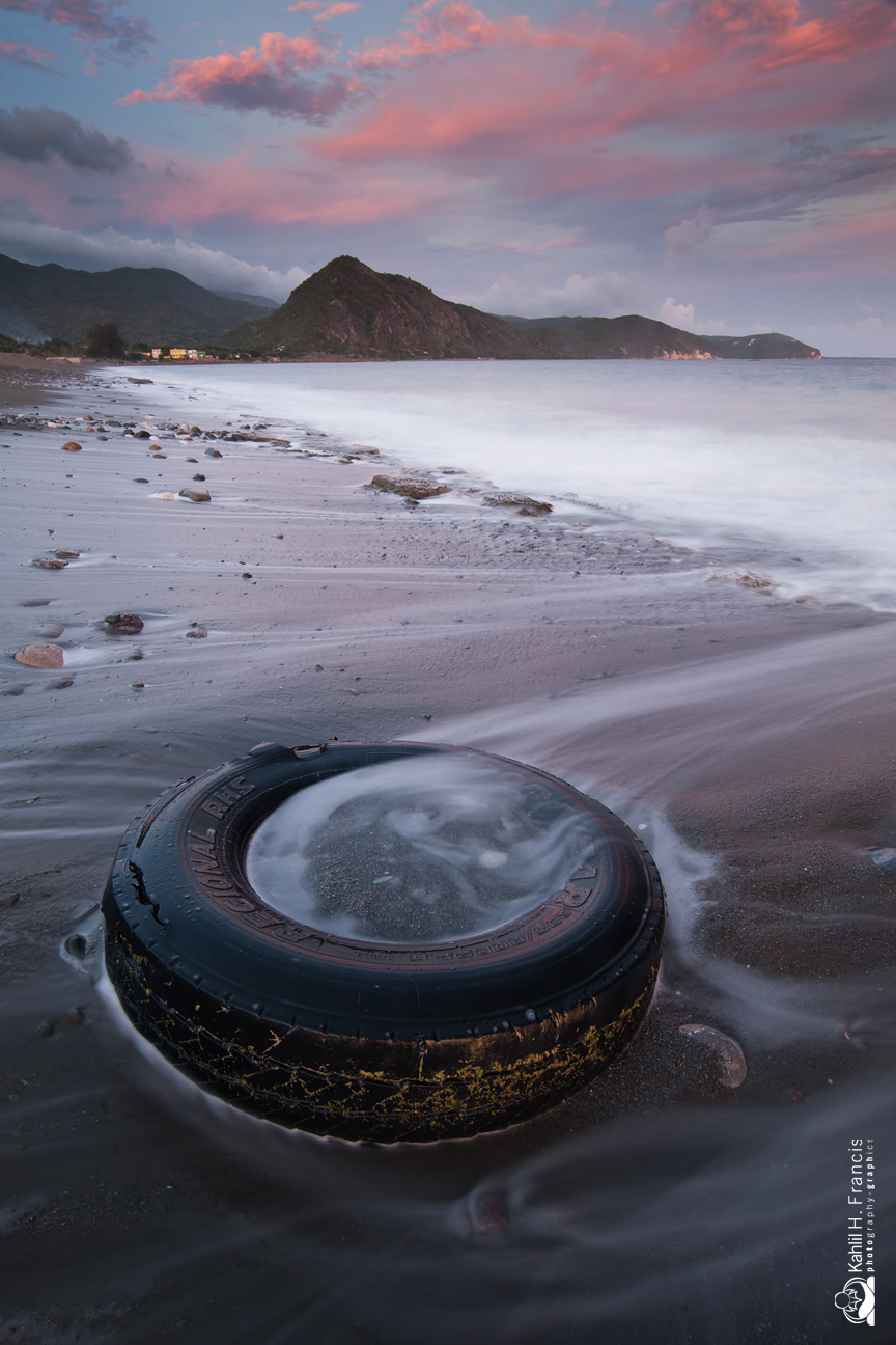 Tyre in the Surf - Sugarloaf Hill
