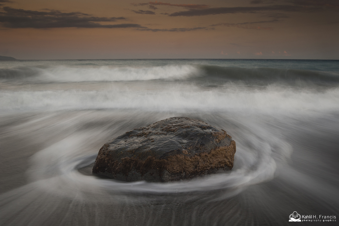 Boulder, Sand and Waves