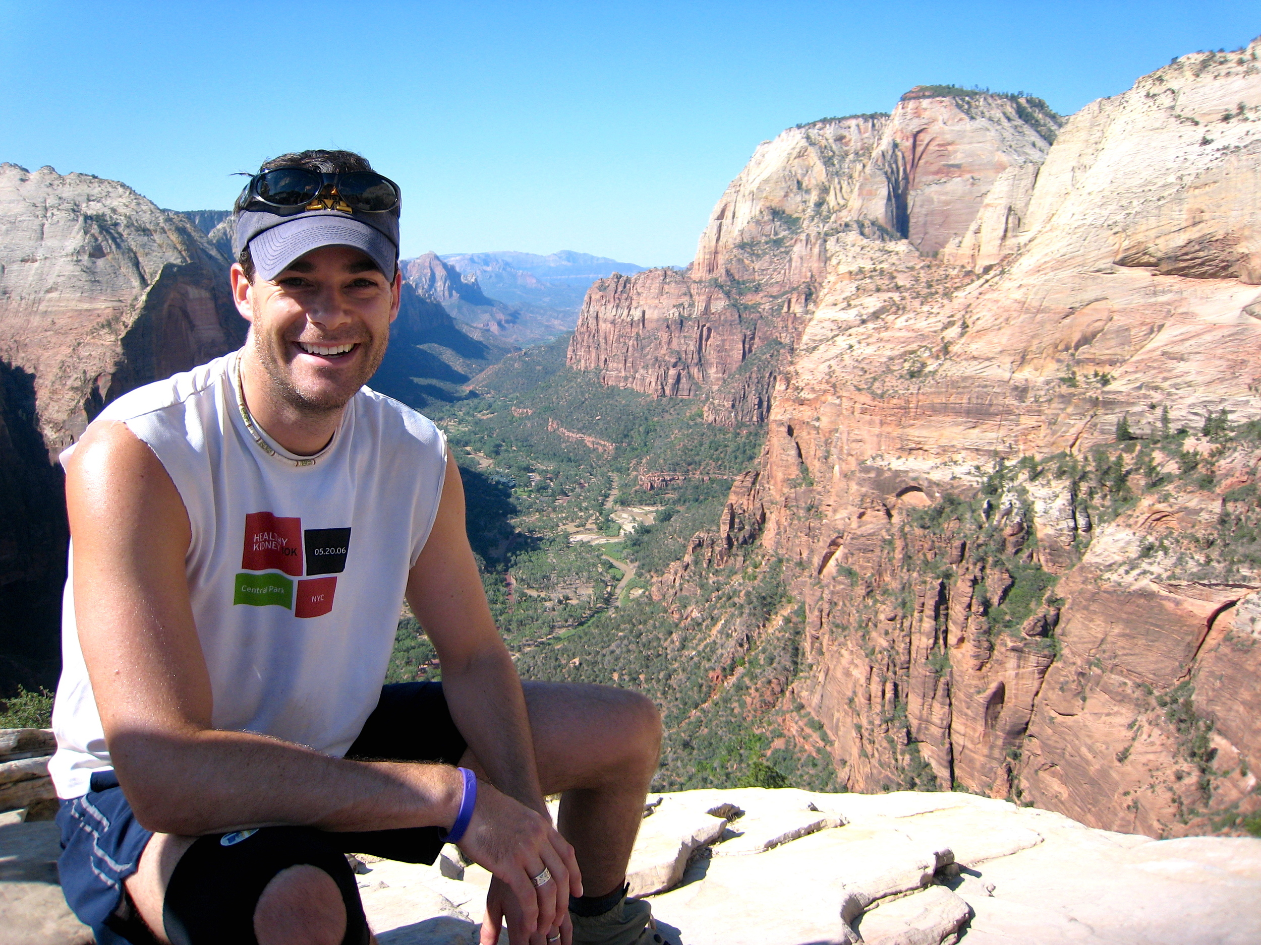 Angel's Landing in Zion National Park. An actual death-defying hike. For real.