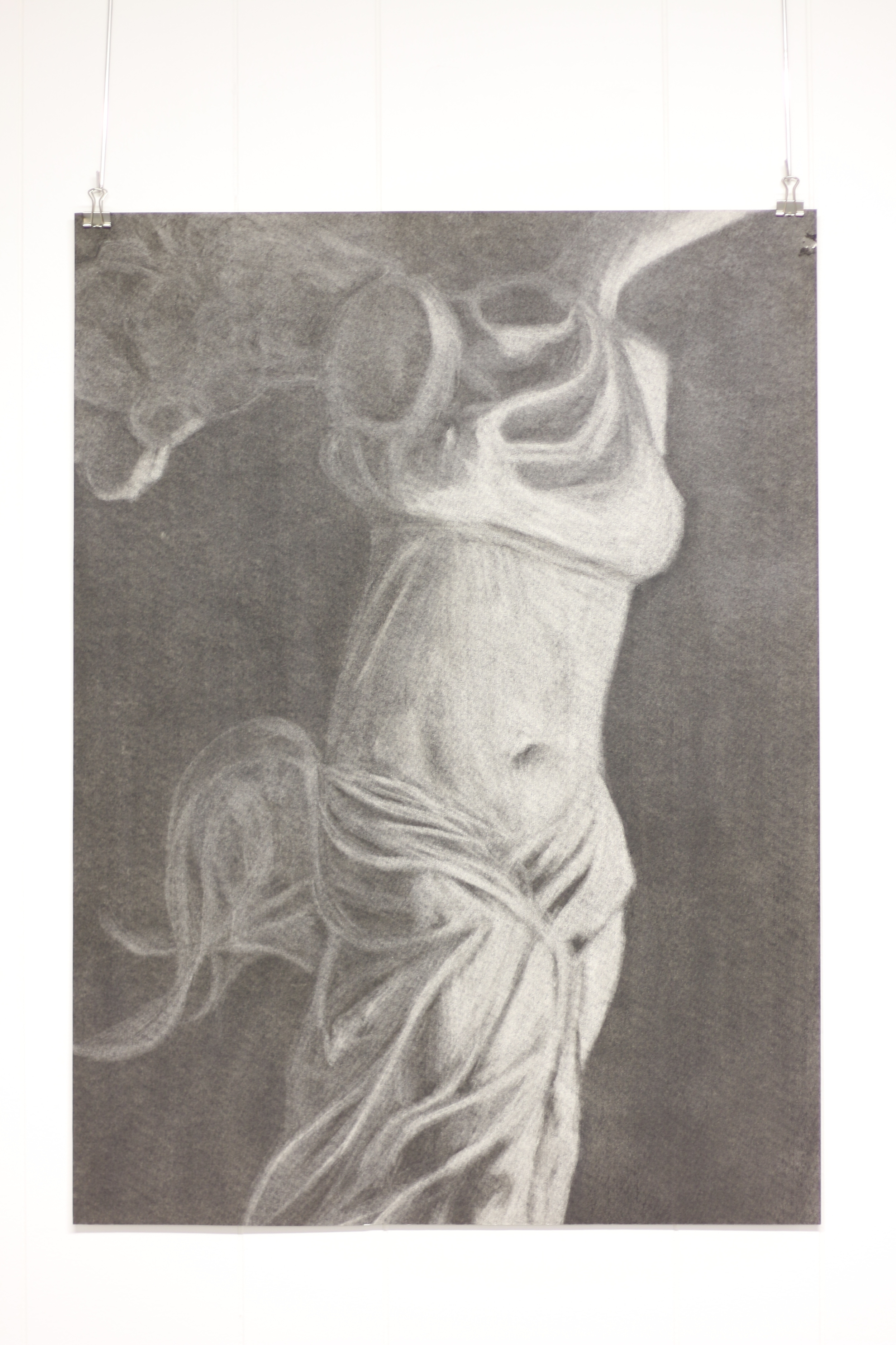 Winged Victory, 1999, Charcoal (Erased Tone), Art 131