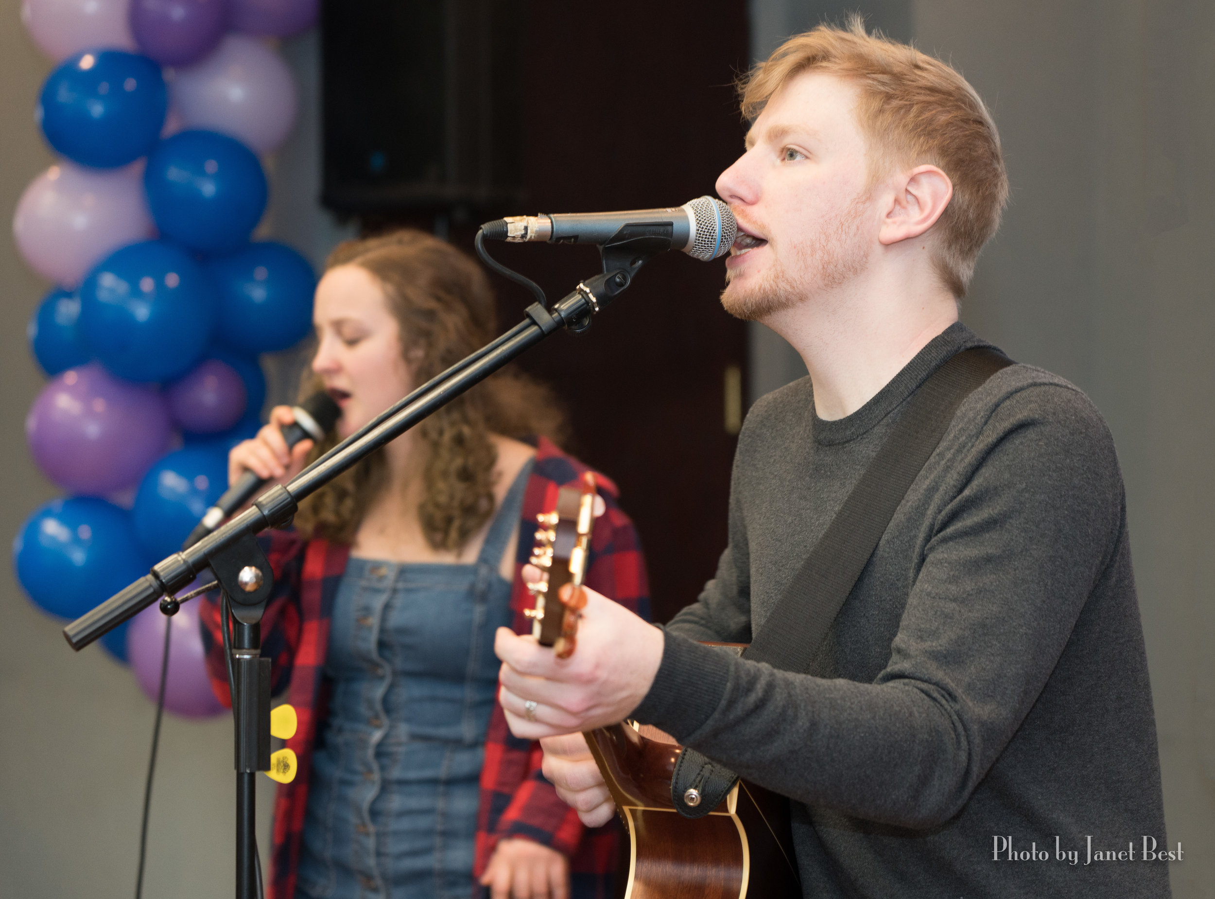 The Zack Ingles Band leads the worship