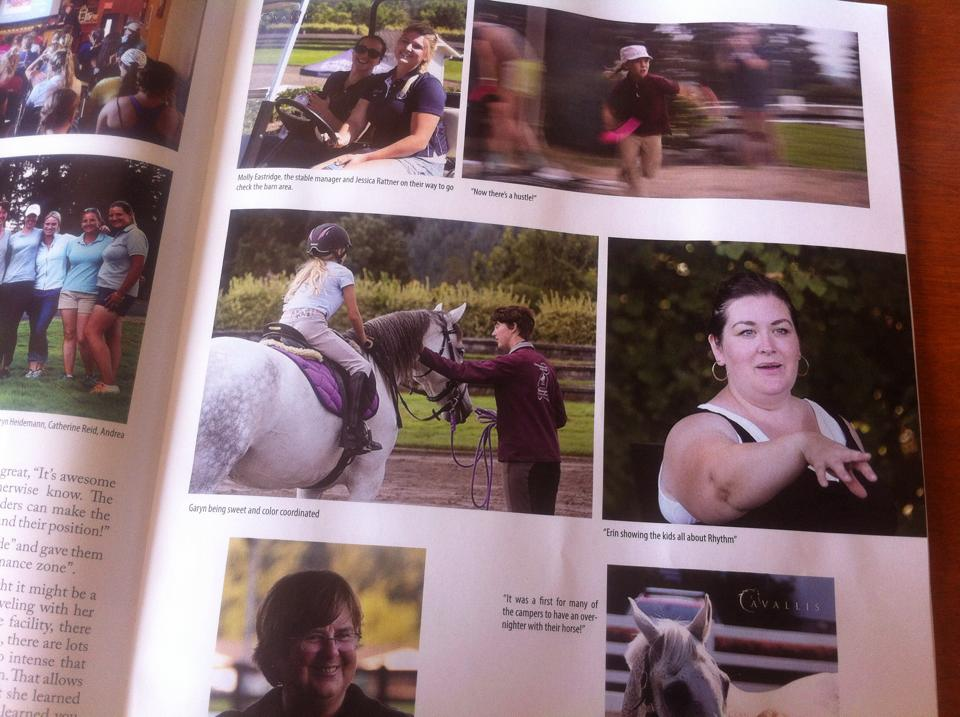 From a 2015 article in  Flying Changes  magazine about a rhythm workshop that Erin taught as part of the USDF Region 6 Young Rider's camp at DevonWood Equestrian Center.