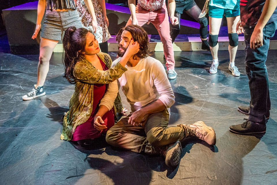 Studio artist, Hannah Sapitan, with Morgan Mallory in the Stumptown Stages production of Jesus Christ Superstar