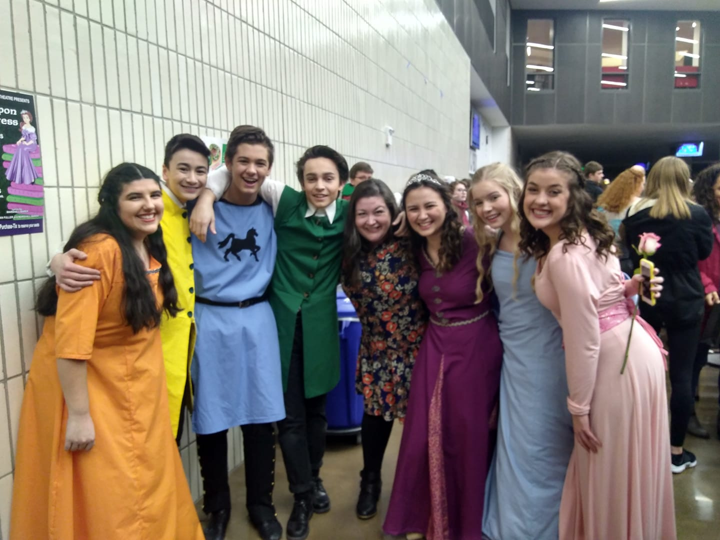 Studio Artists from Mountainside High School's production of  Once Upon a Mattress