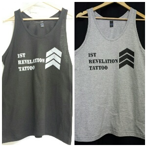 Chevron TANK$20.00    Available in Black or Heather Grey