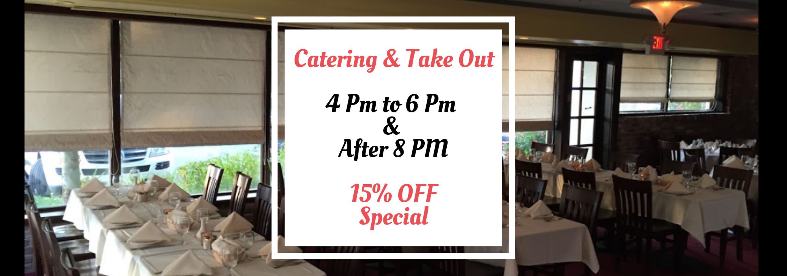 la Vecchia Fontana TAKE OUT 4PM TO 6PM & AFTER 8_30 PM 20% OFF SPECIAL - EXCLUDES FRIDAY (1).png