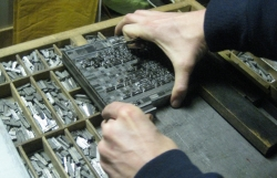Tom also is taking appointments for individual sessions for beginning to advanced level printers on any aspect of letterpress  – his press or yours! Limited appointments. 4 hours $100 per person plus materials, Price includes membership. 10% less with  existing membership