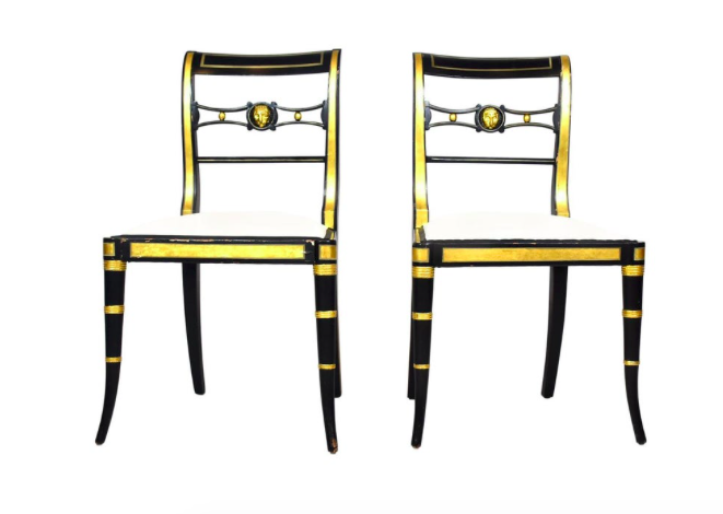 Pair Of Baker Neoclical Style Chairs Moxie