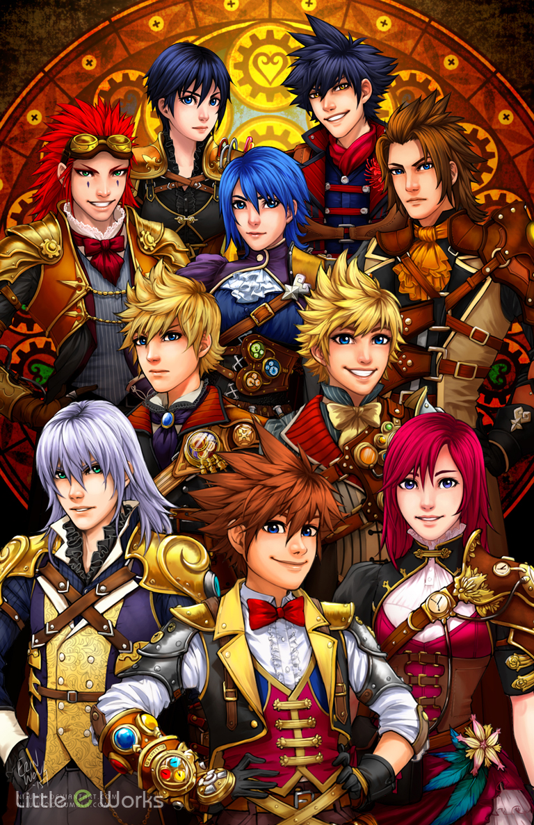 Kingdom Hearts Steampunk costume design poster