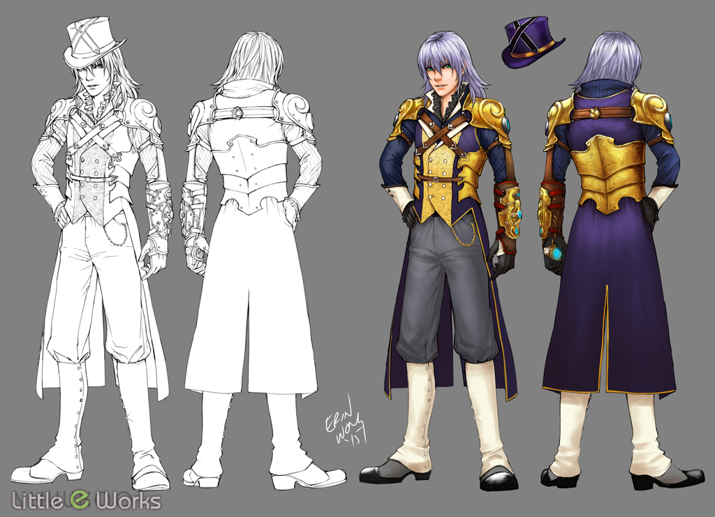 Steampunk Costume design for Riku from Kingdom Hearts Series