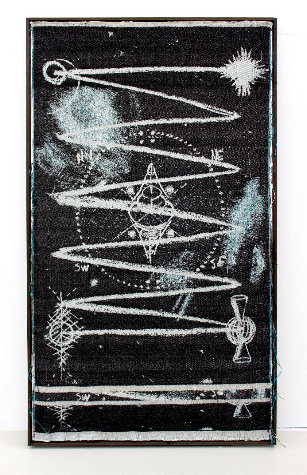 Weaving the Cosmos - 1320x2816 pixel, wool, 2011