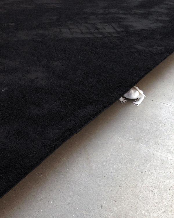 Vi pløjer dine marker med kølens ranke plov - (We plow your meadows with the slender plow)«asphalt on wood, 3D-print…UDEN TITEL16, Kunsthal Nord, Ålborg, DK -