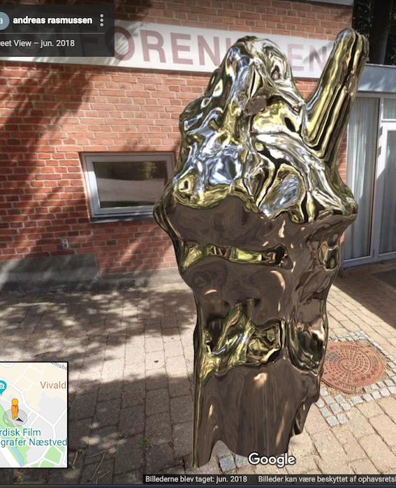 Google#5/6« Jubilæumsskulptur,Google streetview…Næstved Kunstforening, DK -