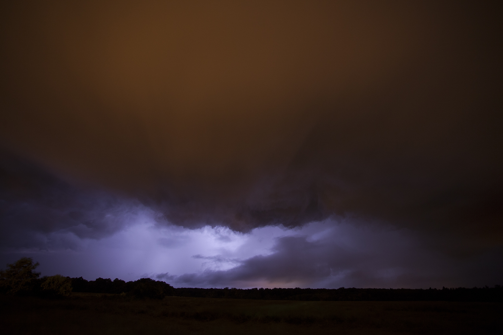 Lightning Storm in Grez-Sur-Loing, Fontainebleau, France