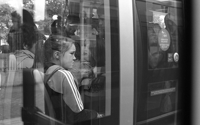 In Transit   A series of 35mm shots taken on the red tram line in Dublin.