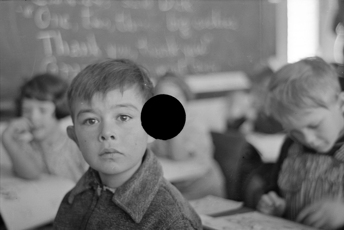 Pupil in rural school. Williams County, North Dakota. November, 1937