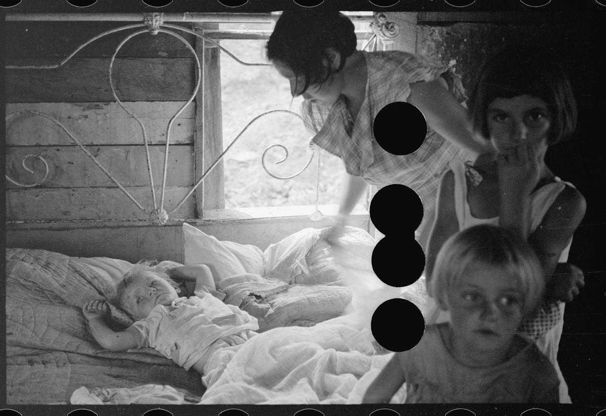 Sharecropper's wife and children, Arkansas. August, 1935.