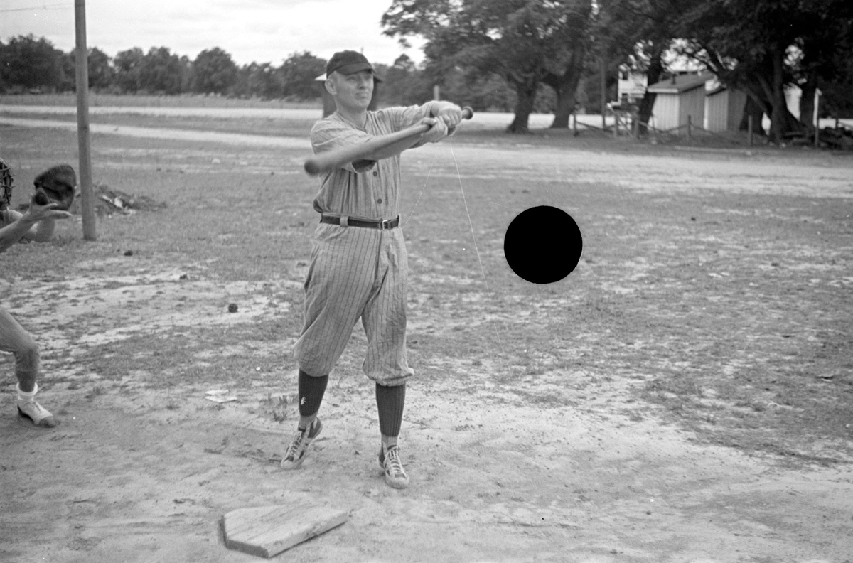 Untitled photo, possibly related to nearby photo captioned: Ball team at Irwinville Farms, Georgia. May, 1938.
