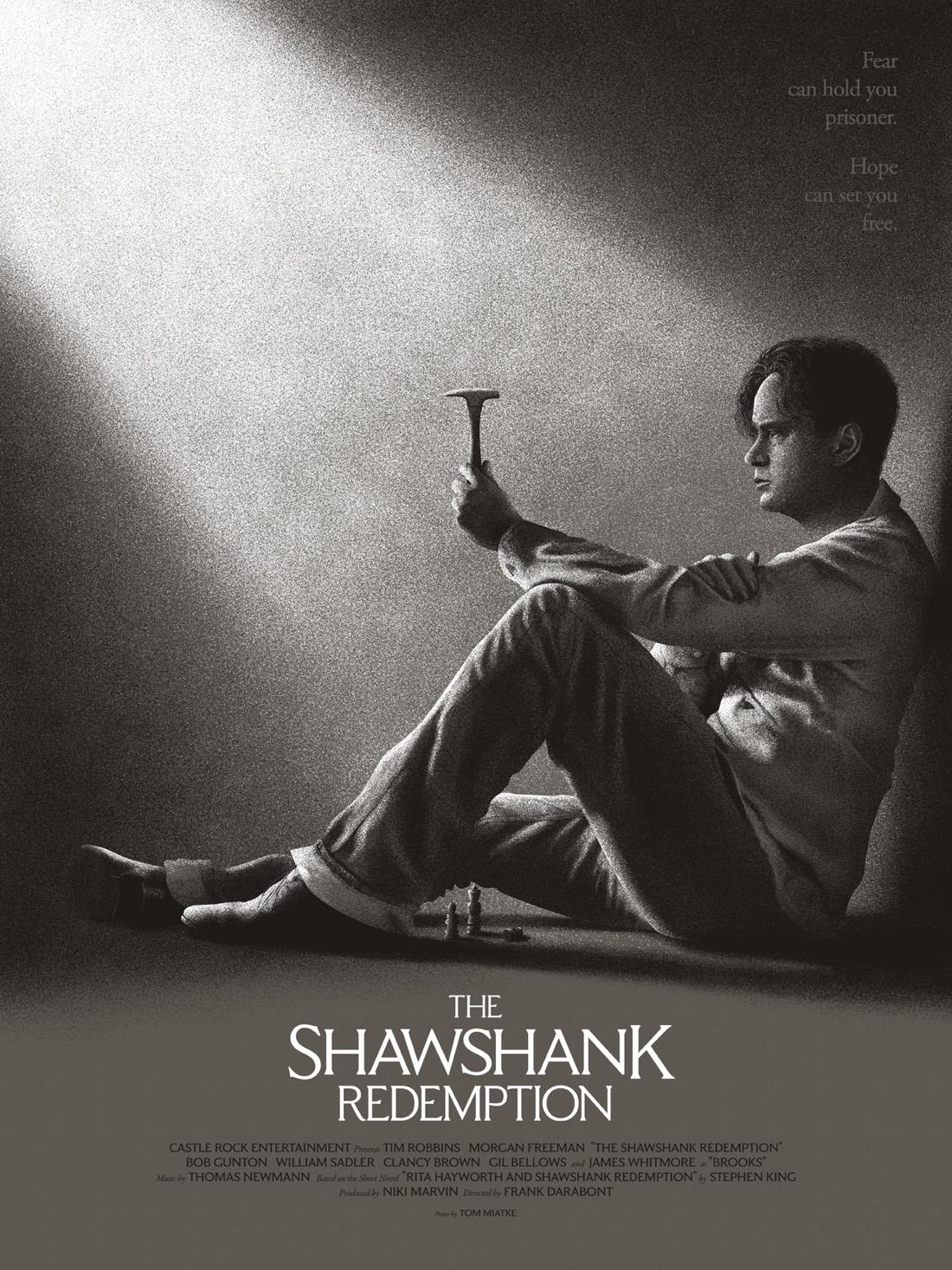 Shawshank Redemption  AP Edition of 10 2 Colour Screenprint $35USD