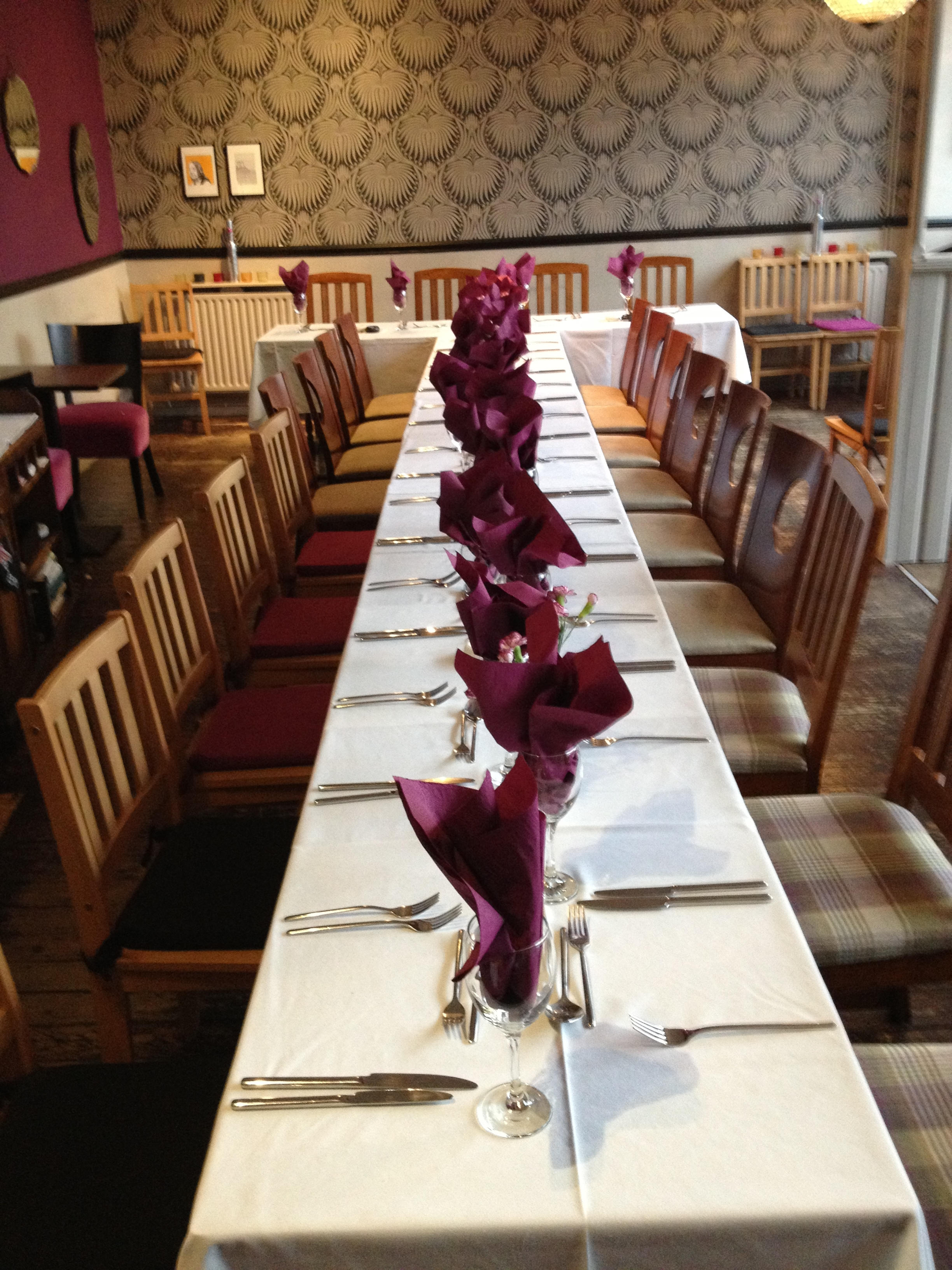 Private bookings and large parties welcome
