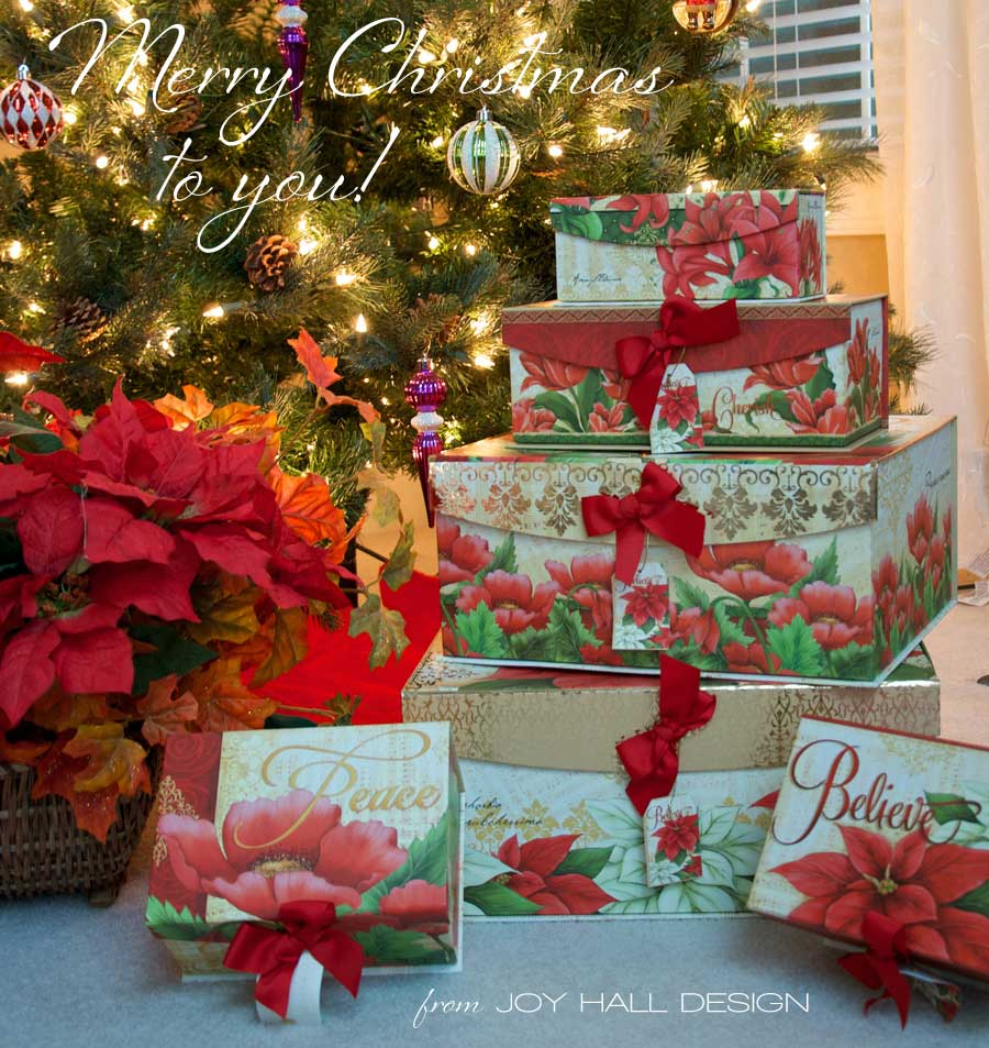 Christmas Nesting Boxes can be found at Joann's.